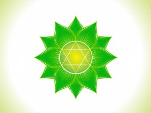 40233575 - detailed heart chakra vector illustration